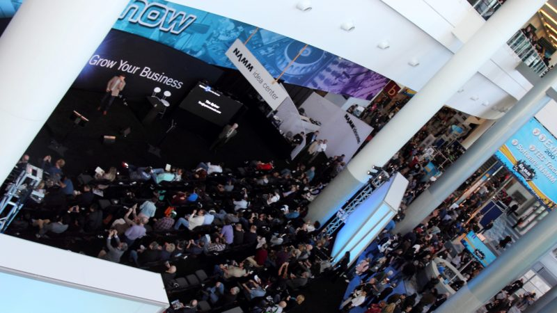While Buckets of Rain Fell From the Sky NAMM 2017 Kept Doors Open and Long Lines Going